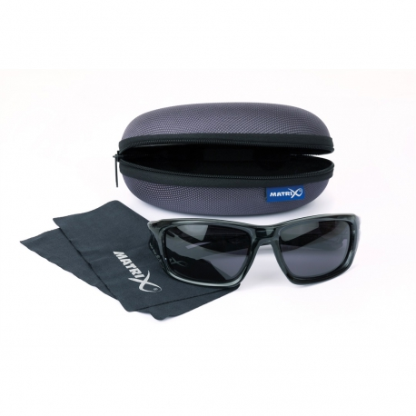 Matrix Sunglasses Trans Black Wraps/ Grey Lense