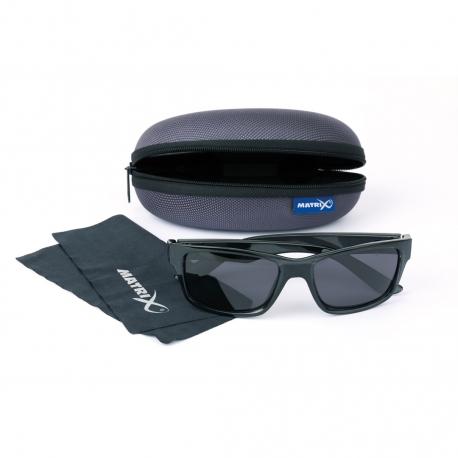 Matrix Sunglasses Trans Black Casual/ Grey Lense
